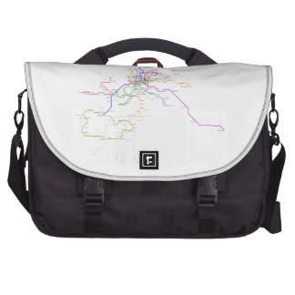 Madrid (Spain) Metro Map Computer Bag