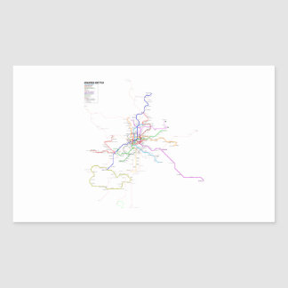 Madrid (Spain) Metro Map Rectangular Sticker