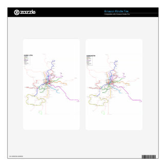 Madrid (Spain) Metro Map Skin For Kindle Fire