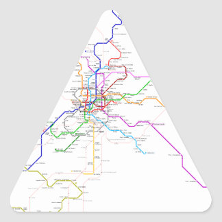 Madrid (Spain) Metro Map Triangle Sticker