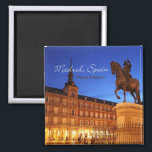 """Madrid Spain Nighttime Scene Travel Magnets<br><div class=""""desc"""">Tip: dated magnets are a fun way to keep a chronology of your travels.  Adding a date is easy,  give it a try!</div>"""