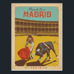 "Madrid, Spain Postcard<br><div class=""desc"">Anderson Design Group is an award-winning illustration and design firm in Nashville,  Tennessee. Founder Joel Anderson directs a team of talented artists to create original poster art that looks like classic vintage advertising prints from the 1920s to the 1960s.</div>"