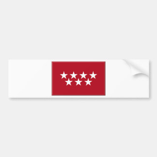 Madrid Spain (Regional) Flag Car Bumper Sticker
