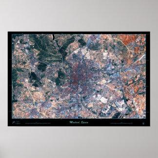 Madrid, Spain satellite poster