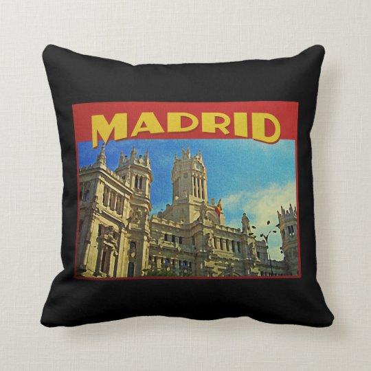 Madrid Spain Throw Pillow