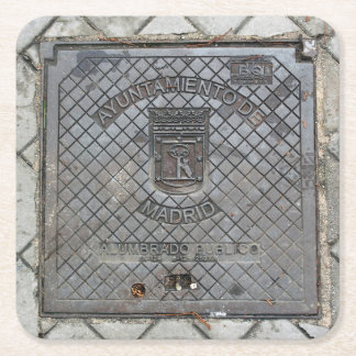 Madrid, Spain Utility Cover - Coaster