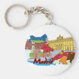 Madrid, Spain World Famous City Keychain