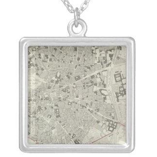 Madrid Square Pendant Necklace