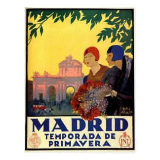 Madrid Temporada de Primavera - poster del arte Tarjeta Postal