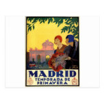 Madrid Temporada de Primavera - poster del arte Postales