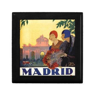 Madrid Temporada de Primavera - Vintage Art Poster Jewelry Box