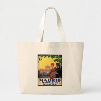 Madrid Temporada de Primavera - Vintage Art Poster Large Tote Bag