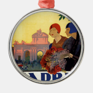 Madrid Temporada de Primavera - Vintage Art Poster Metal Ornament