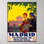 Madrid Temporada de Primavera - Vintage Travel Art Poster