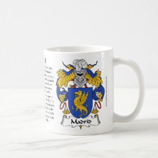 Madrid, the Origin, the Meaning and the Crest Mug
