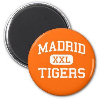 Madrid - Tigers - Madrid High School - Madrid Iowa 2 Inch Round Magnet