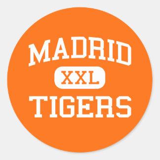 Madrid - Tigers - Madrid High School - Madrid Iowa Classic Round Sticker