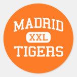 Madrid - tigres - High School secundaria de Madrid Pegatina Redonda