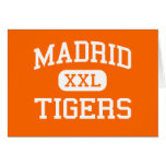 Madrid - tigres - High School secundaria de Madrid Tarjeta