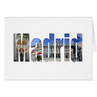 Madrid tourist attractions greeting cards