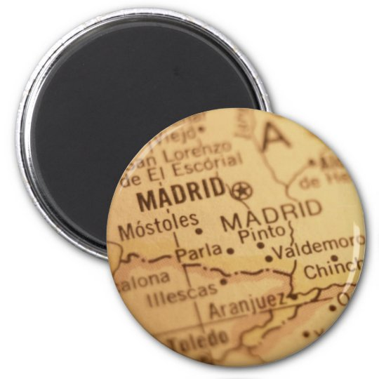 Madrid Vintage Map Magnet