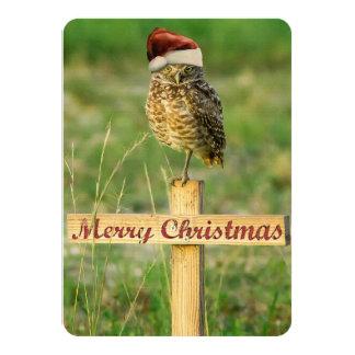Madriguera de la tarjeta de Navidad de Santa del Invitación 11,4 X 15,8 Cm