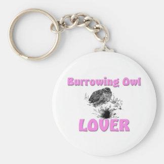 Madriguera del amante del búho llavero personalizado