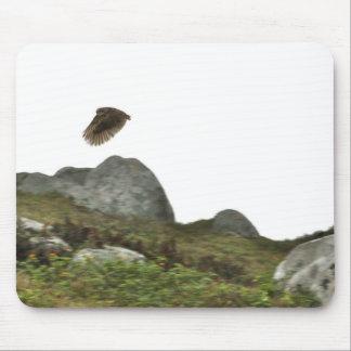 Madriguera el búho en vuelo alfombrilla de ratón