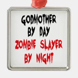 Madrina del asesino del zombi ornamento para arbol de navidad