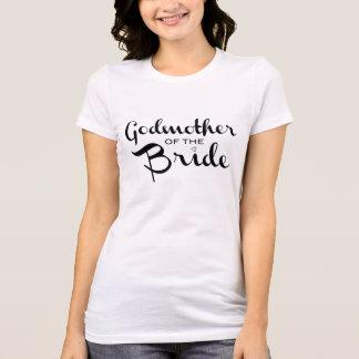 Madrina del negro de la camiseta de la novia remeras