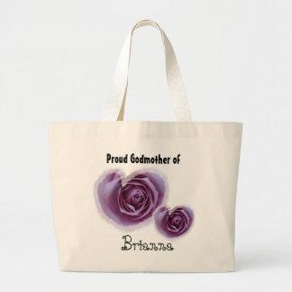 Madrina orgullosa - corazones púrpuras bolsa