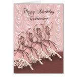 Madrina, una tarjeta de cumpleaños de la bailarina