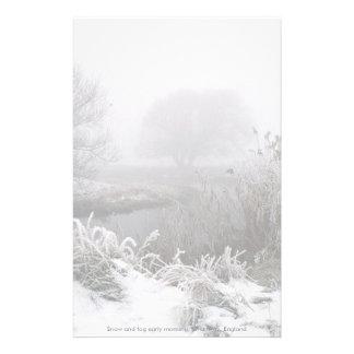 Madrugada de la nieve y de la niebla, manera del papelería personalizada
