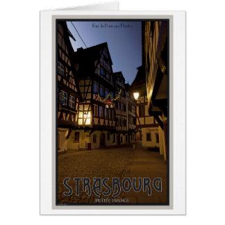 Madrugada menuda de Estrasburgo - Francia Tarjeta De Felicitación