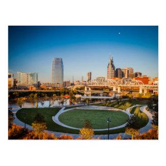 Madrugada sobre Nashville, Tennessee, los E.E.U.U. Tarjeta Postal