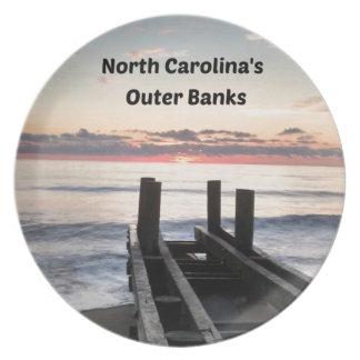 Madrugada sobre Outer Banks del NC Platos