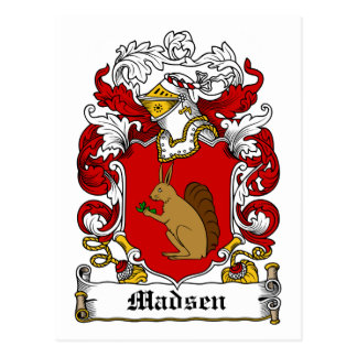 Madsen Family Crest Postcard