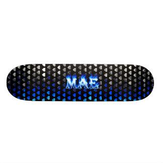 Mae blue fire Skatersollie skateboard.