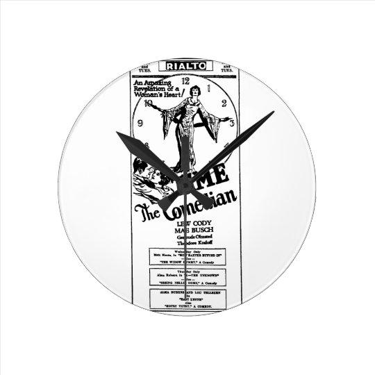 Mae Busch Lew Cody Time the Comedian 1925 Round Clock