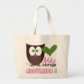 Mãe Coruja Assumida Large Tote Bag