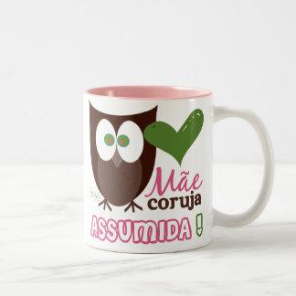 Mãe Coruja Assumida Taza De Café De Dos Colores