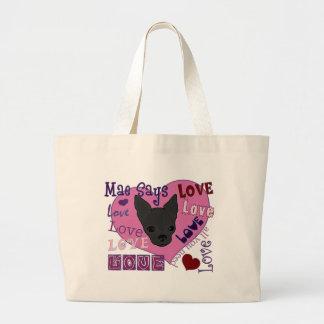 ¡Mae dice amor! Bolso Bolsa Tela Grande