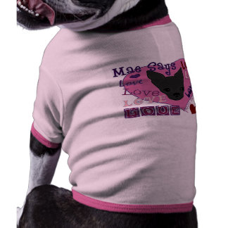¡Mae dice amor! Campanero del perrito Camiseta Con Mangas Para Perro
