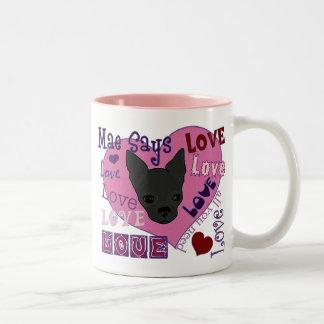 ¡Mae dice amor! Taza
