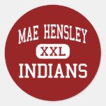 Mae Hensley - Indians - Junior - Ceres California Round Sticker