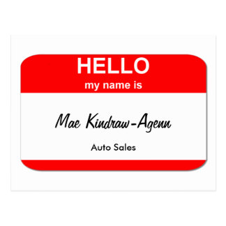 Mae Kindraw-Agenn Postcard