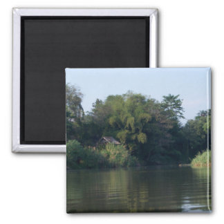 Mae Ping River House 2 Inch Square Magnet