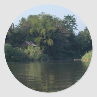Mae Ping River House Round Stickers