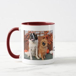 Mae - St Bernard y Cinny - perro chino de perro Taza