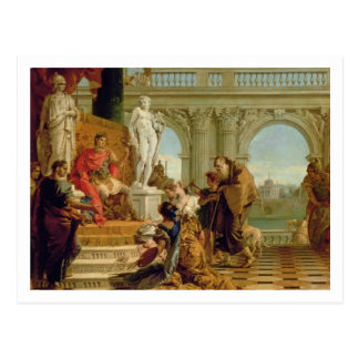 Maecenas Presenting the Liberal Arts to the Empero Postcard